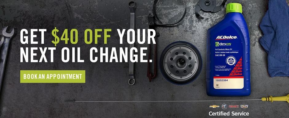 $40 Off Your Next Oil Change