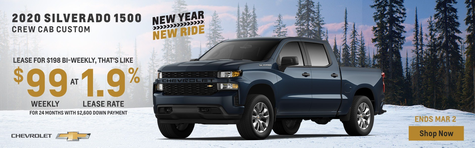 2020 Silverado Crew Cab from $99 Weekly