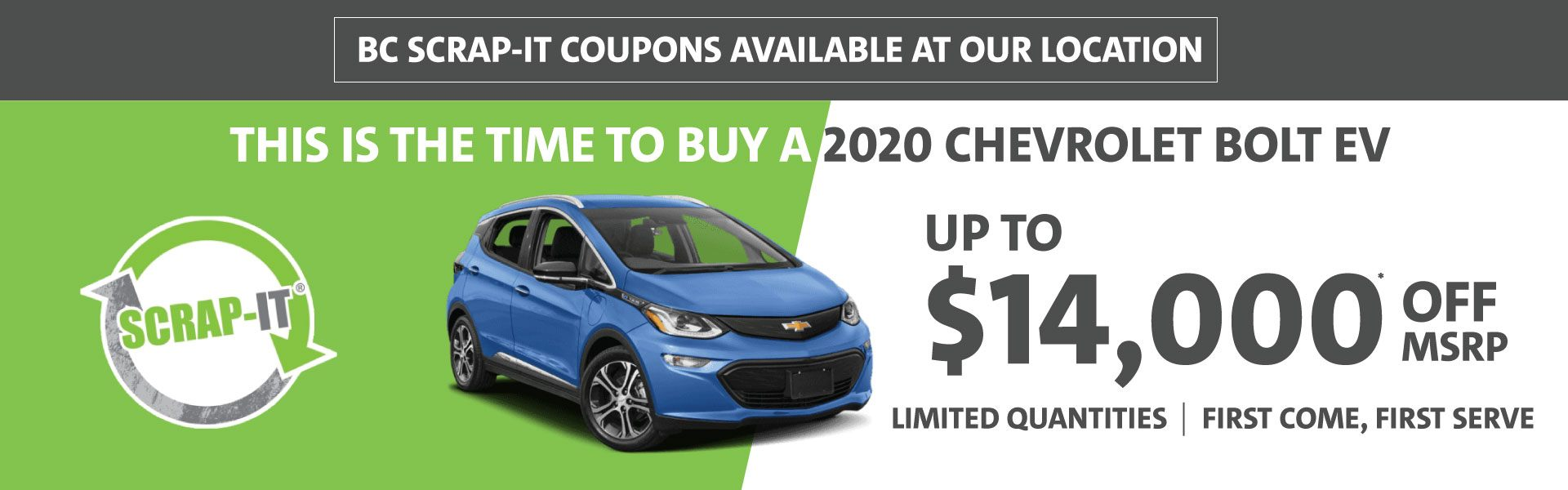 Up to $14,000 OFF 2020 Chevrolet Bolt EV